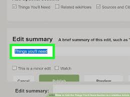 How to Add the Things You ll Need Section to a wikiHow Article