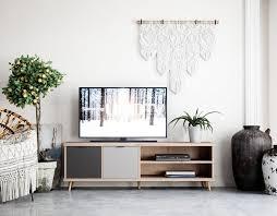 newroom sideboard conni tv board eiche hirnholz grau vintage industrial tv schrank fernsehtisch rack wohnzimmer schlafzimmer kaufen otto