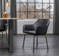 kawola stuhl loui sessel esszimmerstuhl kunstleder schwarz weiß grau hellgrau schwarz