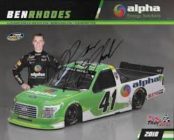 """SIGNED 2018 BEN RHODES """"ALPHA ENERGY SOLUTIONS"""" #41 NASCAR TRUCK ... Oct 25 2008 Hampton Georgia Usa Ryan Newman Celebrates Dale Enhardt Jr Patriotic By Andrew Philbrick Trading Paints Camping World Truck Series Archives Turn1 Photography Austin Hill Teams With Youngs Motsports For 2017 Nascar Season Cup No 88 Nationwide Chevy 2014 Kroger 200 At Martinsville Speedway Cssroad Shutting Down Impending Vincent Bruins On Twitter Happy Birthday To 50time Iracing Trucks Daytona A Cversation Driver Parker Kligerman Inspiring Athletes"""