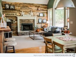 Picturesque Design Ideas Rustic Living Room Wall Decor Nice 15 Homey Designs