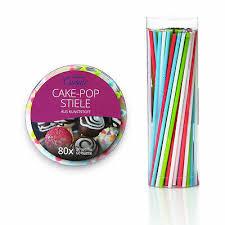 lumaland cakepop stiele set 80 stück popcake sticks stäbchen