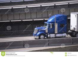 100 Big Trucks Racing Blue Star Rig Semi Truck With Semi Trailer Running On Urban