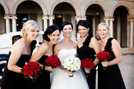 Classicblack White And Red Wedding