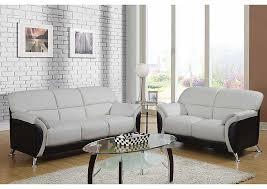 Living Room Light Gray Black Sofa LoveseatGlobal Furniture USA