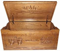 flat top amish toy chest and wooden box handmade and handcarved