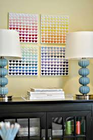 View In Gallery Rainbow Paint Chip Wall Art DIY Idea