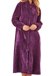 robe de chambre avec fermeture eclair femmes slenderella peignoir fermeture éclair gaufré polaire robe