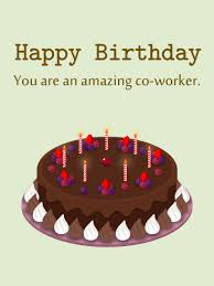 Birthday Chocolate Cake Card for Co Worker