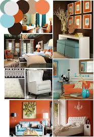 Teal Brown Living Room Ideas by Kitchen Design Stunning Orange Feature Wall Blue And Orange