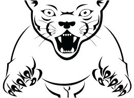 Panthers Coloring Pages Black Panther Page Stock With Pink Printable Florida Colouring