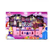 My Dream Luxury Prince Princess Barbie Castle Light Music Play Set