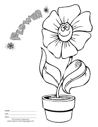 Flower Coloring Pages For Kids Black White