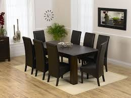 Dining Room 8 Seat Table Sets Leather Chair Cover Black