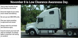100 Gps Truck Route November 8 Has Been Named Low Clearance Awareness Day