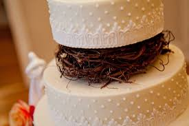 Four Tier Round Wedding Cake With Twig Detail 1