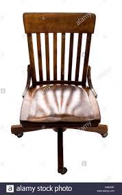 Antique Oak Swivel Desk Chair On Wheels Stock Photo: 41305790 - Alamy
