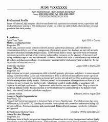 Medical Coding Specialist Resume Sample