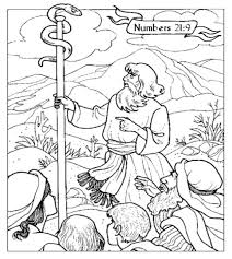 Moses The Brazen Serpent Coloring Page