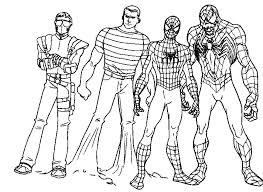 Spiderman Vs Venom Coloring Pages Printable Kids Colouring