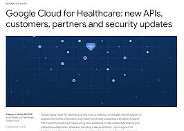 100 J Moore Partners Google Cloud For Healthcare New APIs Customers Partners