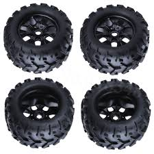 100 Off Road Truck Wheels 4Pcs 32 Rubber RC 18 Tires 150mm For Monster