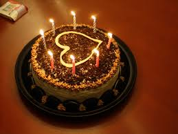Birthday chocolate cake and candles HD Wallpapers Rocks