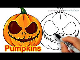 Cute Halloween Carved Pumpkins by How To Draw Scary Carved Pumpkins Cute And Easy Halloween Kids