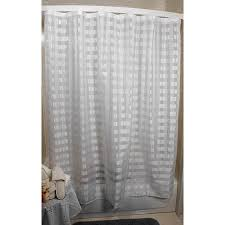 vision exchange checkered sheer white shower curtain free best 25