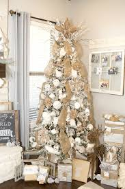 Walmart Flocked Christmas Trees by How To Decorate Rustic Christmas Tree Lillian Hope Designs