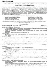Mechanic Resume Examples Aviation And Electrical Technician Example Sample For Mechanical Engineer