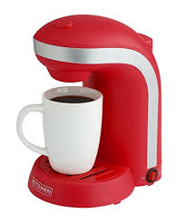 Kitchen Selectives Single Drip Coffee Maker With Mug Red Color Play