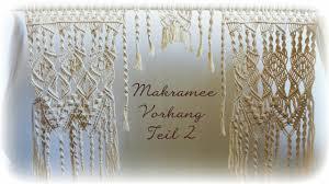 makramee vorhang teil 1 diy macrame curtain eng sub