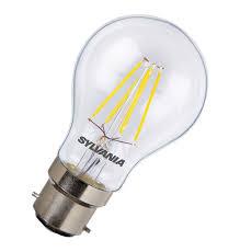 sylvania led filament gls 3 6w bc b22d warm white light bulbs direct