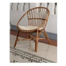 Chair Design Ideas Vintage Rattan Chairs Stripe Pattern Woven Wingback With Fabric Seat