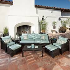 Patio Conversation Set Covers by Exterior Mesmerizing Dark Wicker Patio Chair And Ottoman Set By