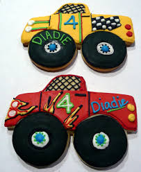 100 Monster Truck Cookies What Little Or Big Boy Wouldnt Want Monster Truck Cookies