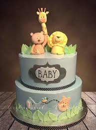 Pretty Design Ideas Safari Cakes Baby Shower Jungle Animals Wedding