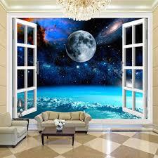 nach wandbild galaxy mond 3d poster foto wand papier schlafzimmer wohnzimmer wand dekoration moderne tapete papel de parede buy imprimante