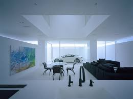 japanische architektur platz fürs auto im wohnzimmer