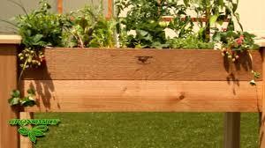 gronomics rustic elevated garden bed youtube
