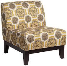 Petra Retro Pinwheel Dijon Armless Accent Chair ...