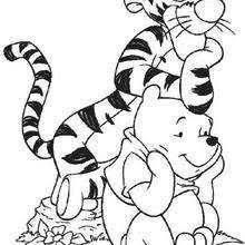 Winnie In Tiggers House And His Friend Tigger