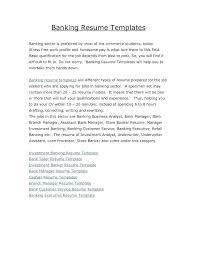 Banking Executive Resume