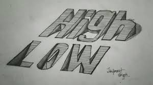 How to draw 3D Letters on paper Pencil Art