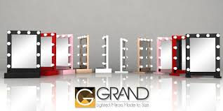 Grand Mirrors Lighted Table Top Mirrors Hello Miss Niki