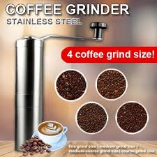Stainless Steel Coffee Grinder Adjustable Grind Level For Different Brewing Portable Travel Size