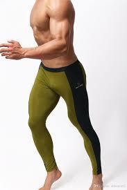 men sportswear fitness yoga gym spandex trousers men stretch tight