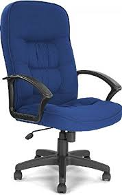 cadiz high back executive fabric office chair blue co uk