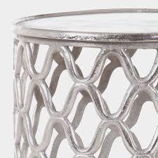 living beistelltisch karlin aluminium silber